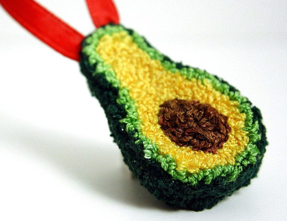 Avocado Christmas Ornament
